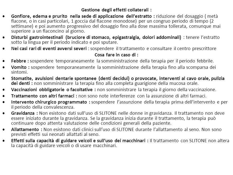 Gestione degli effetti collaterali :