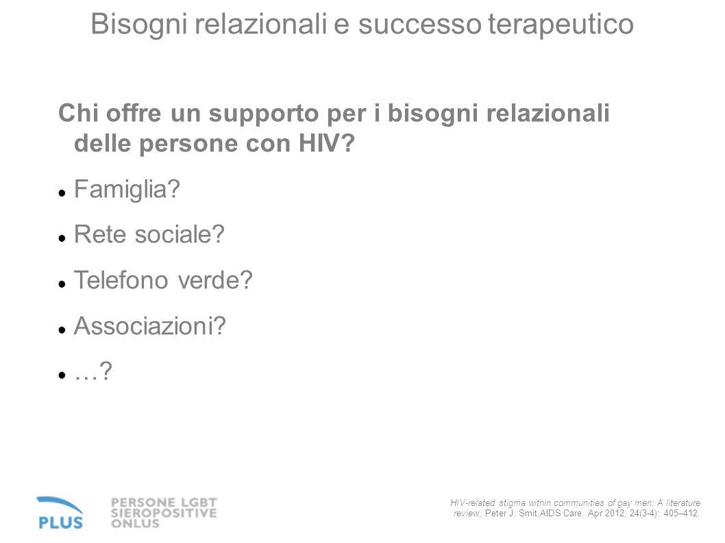 Bisogni relazionali e successo terapeutico