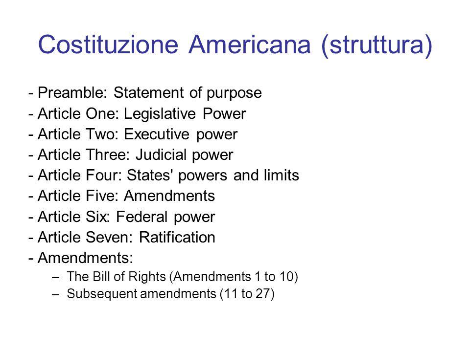 Costituzione Americana (struttura)