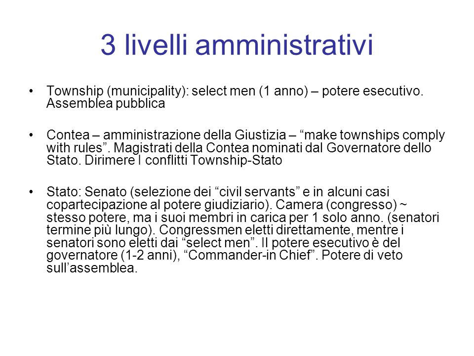 3 livelli amministrativi