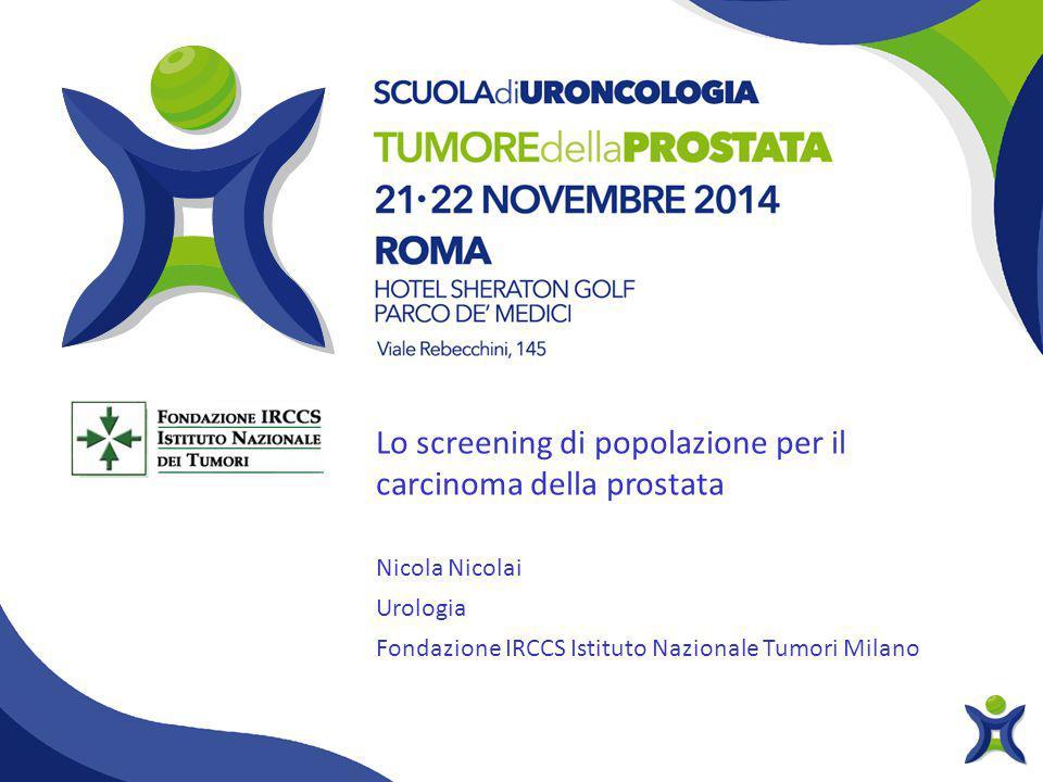 Lo screening di popolazione per il carcinoma della prostata