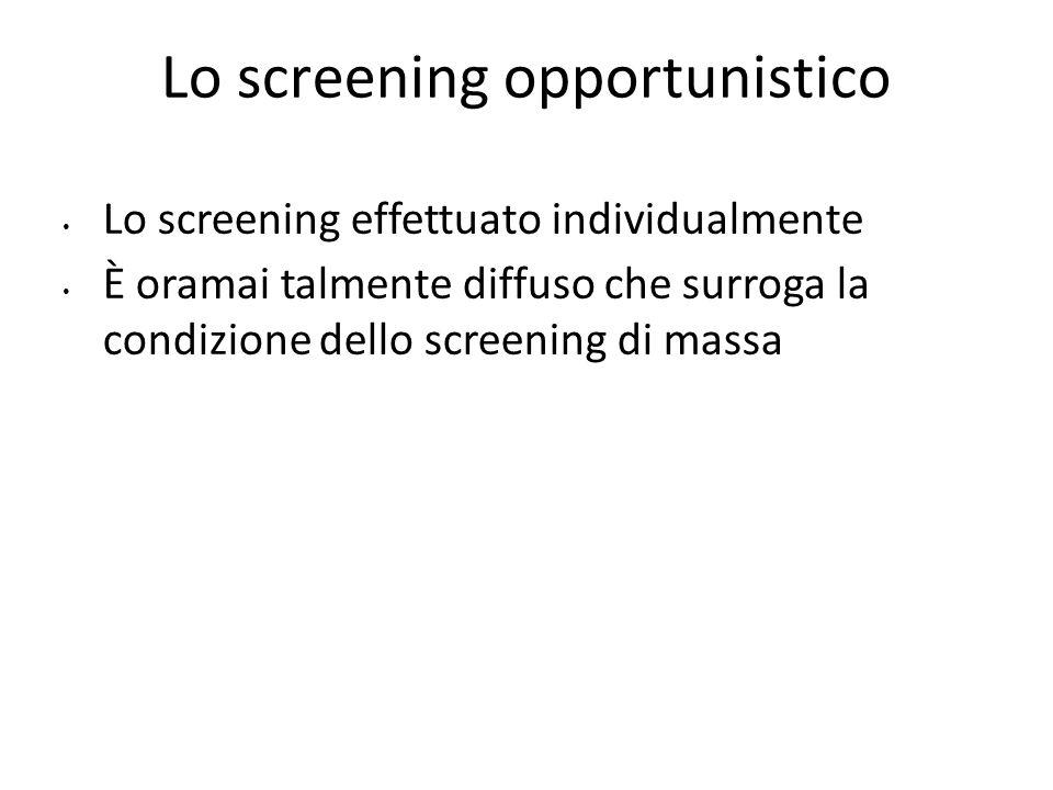 Lo screening opportunistico