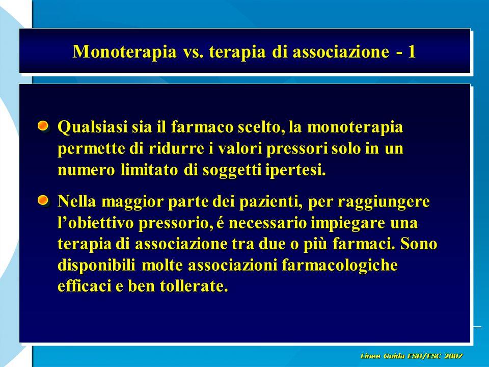 Monoterapia vs. terapia di associazione - 1