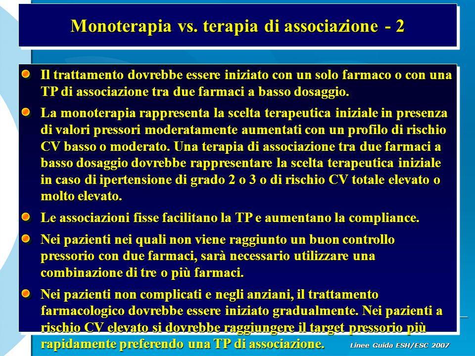 Monoterapia vs. terapia di associazione - 2