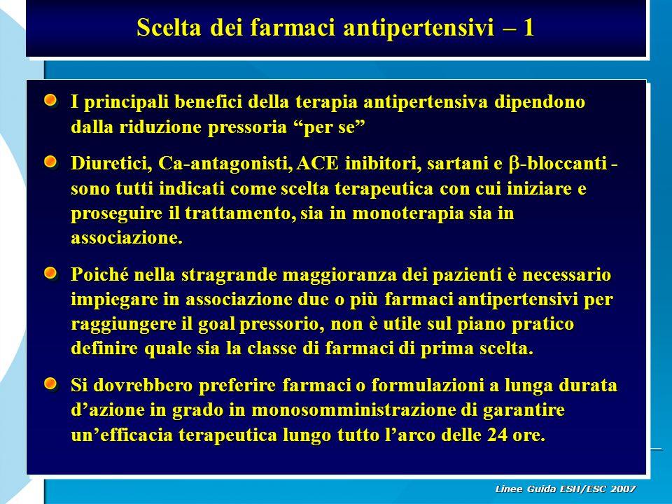 Scelta dei farmaci antipertensivi – 1