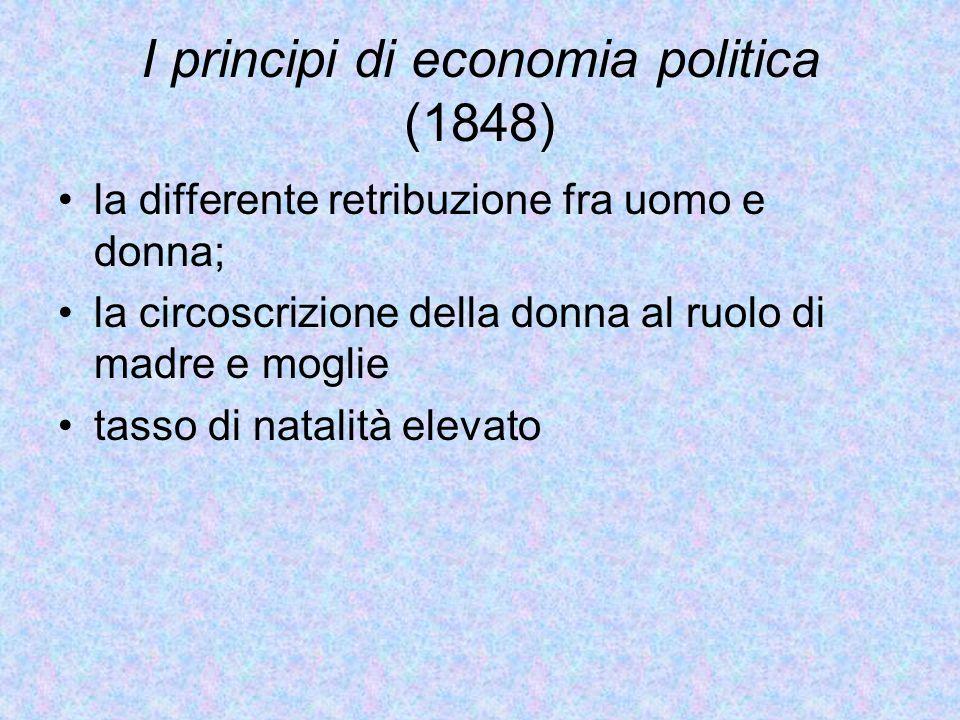 I principi di economia politica (1848)