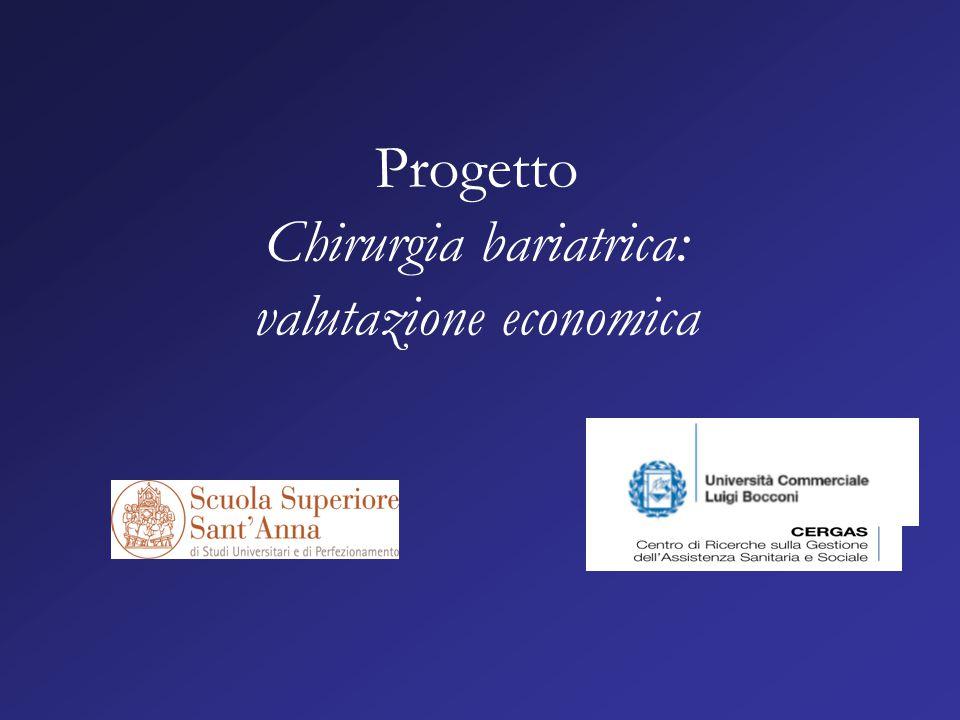 Progetto Chirurgia bariatrica: valutazione economica