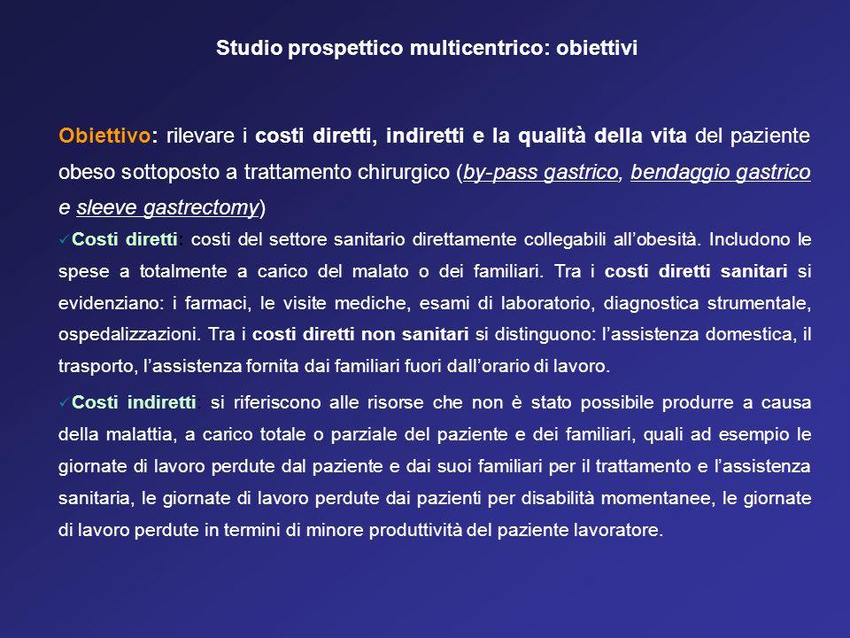 Studio prospettico multicentrico: obiettivi