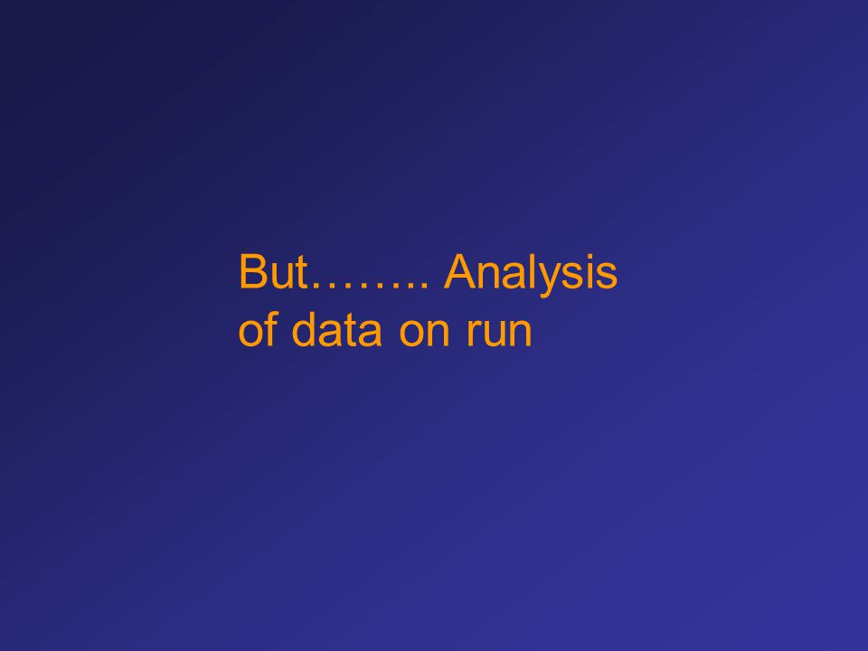 But…….. Analysis of data on run