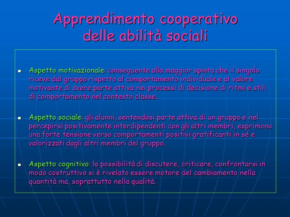 Apprendimento cooperativo delle abilità sociali