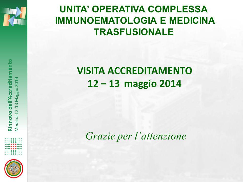 VISITA ACCREDITAMENTO 12 – 13 maggio 2014
