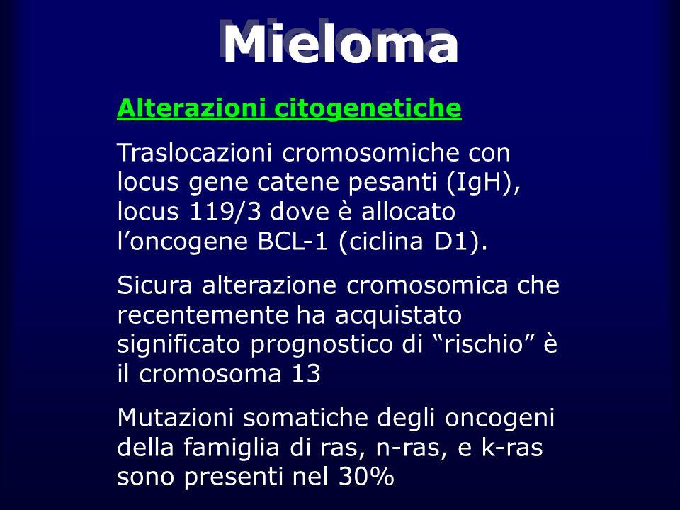 Mieloma Alterazioni citogenetiche