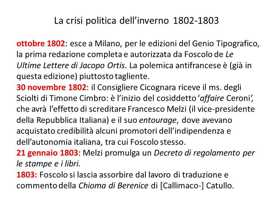La crisi politica dell'inverno 1802-1803