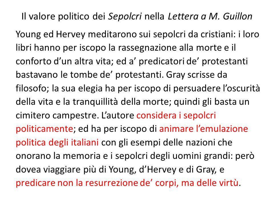 Il valore politico dei Sepolcri nella Lettera a M. Guillon