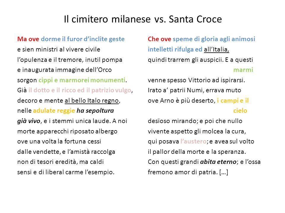Il cimitero milanese vs. Santa Croce