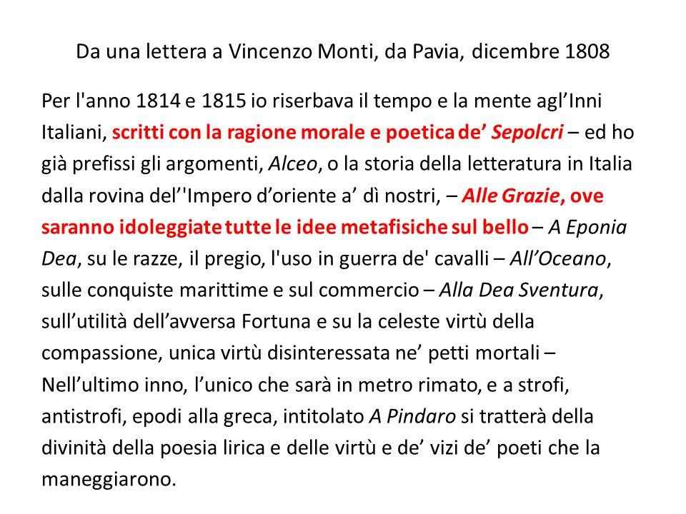 Da una lettera a Vincenzo Monti, da Pavia, dicembre 1808