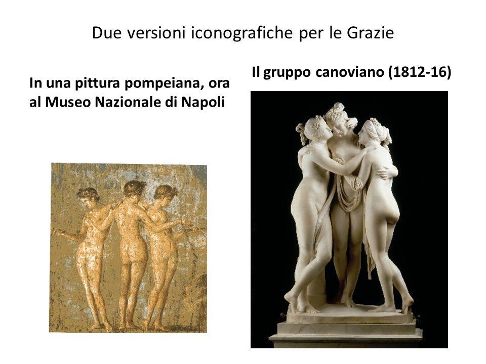Due versioni iconografiche per le Grazie