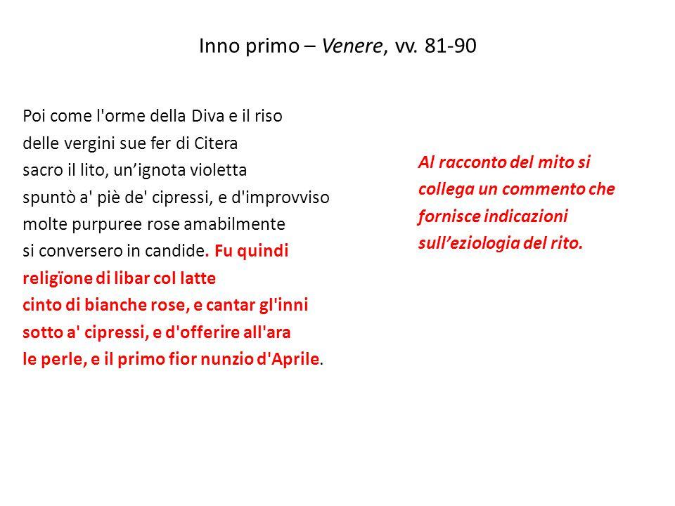 Inno primo – Venere, vv. 81-90