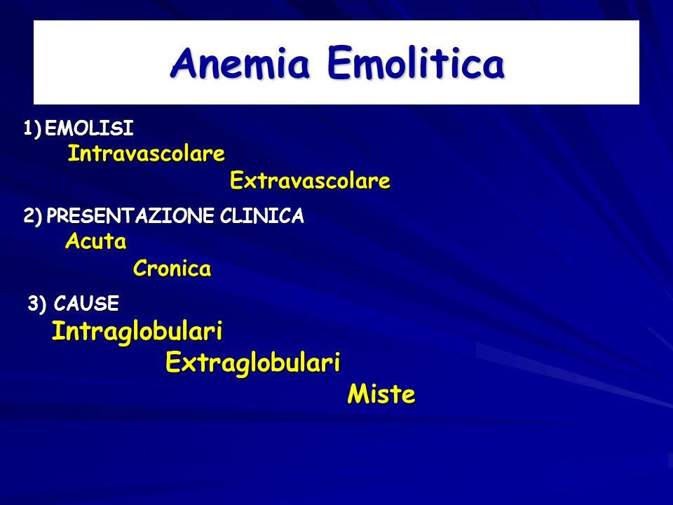 Anemia Emolitica Extraglobulari Miste Extravascolare Cronica