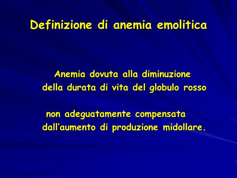 Definizione di anemia emolitica