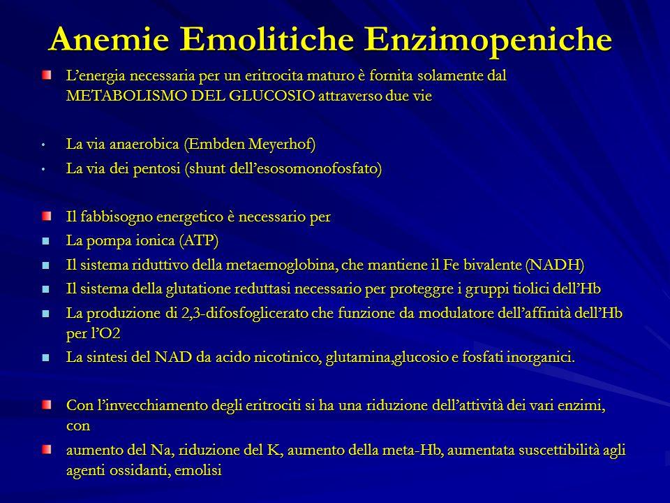 Anemie Emolitiche Enzimopeniche