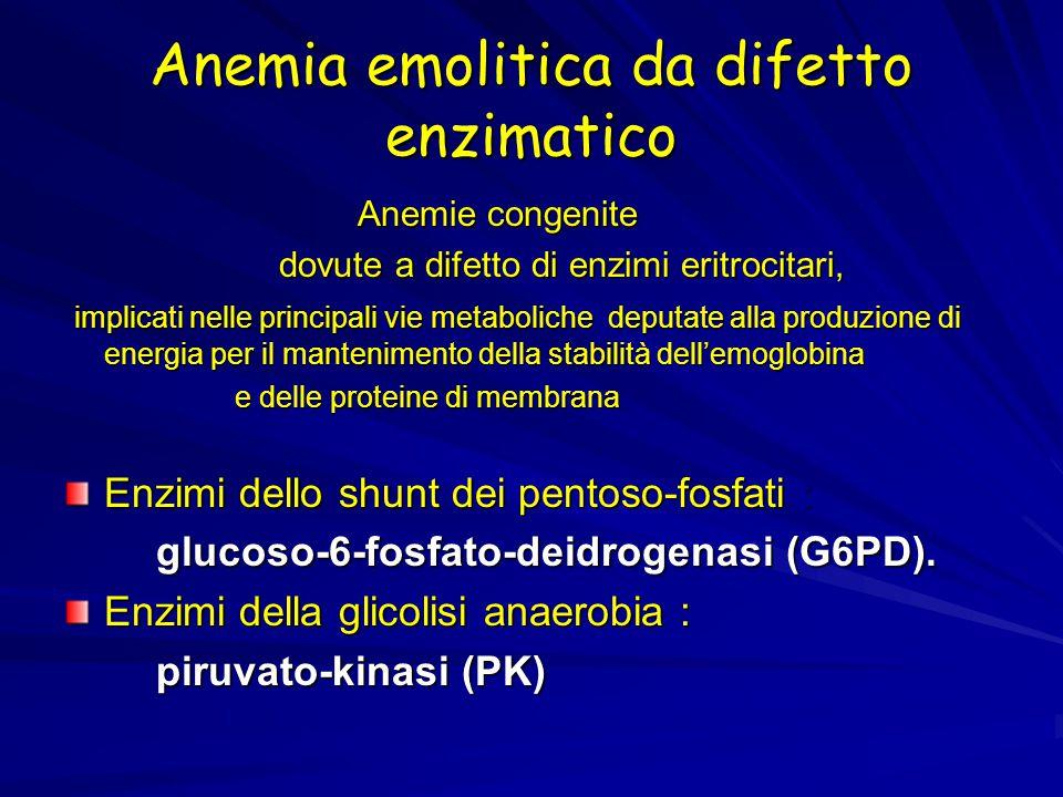Anemia emolitica da difetto enzimatico