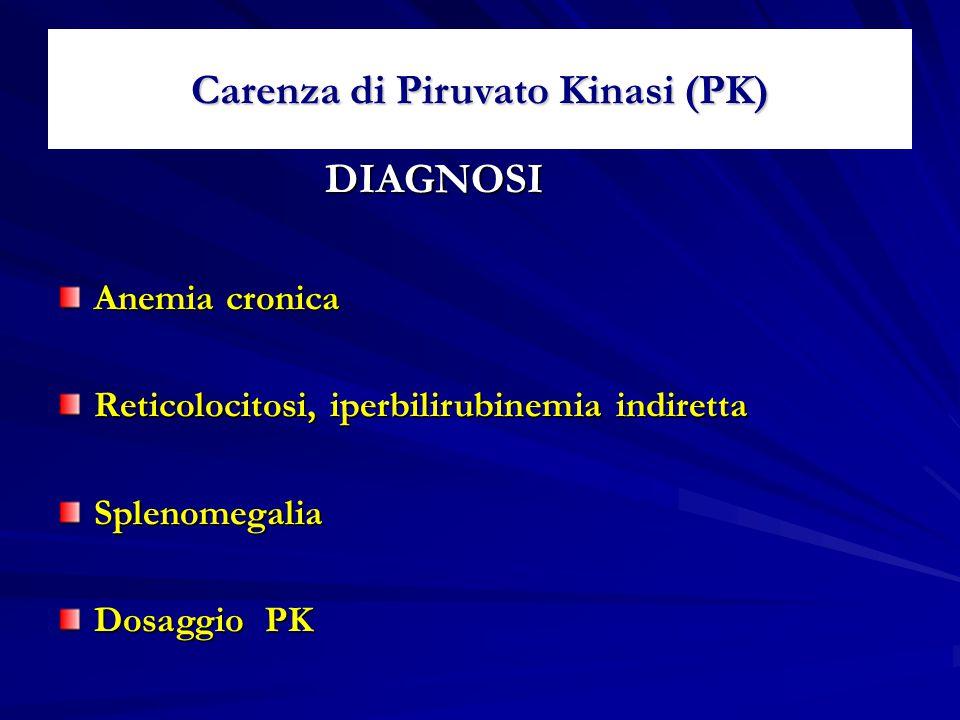 Carenza di Piruvato Kinasi (PK)