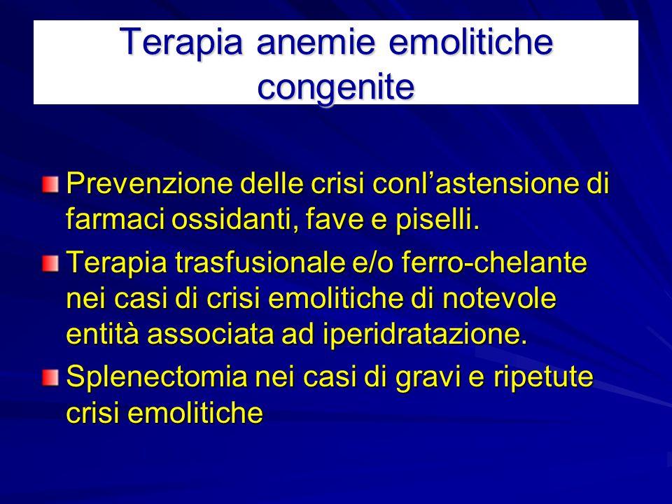 Terapia anemie emolitiche congenite