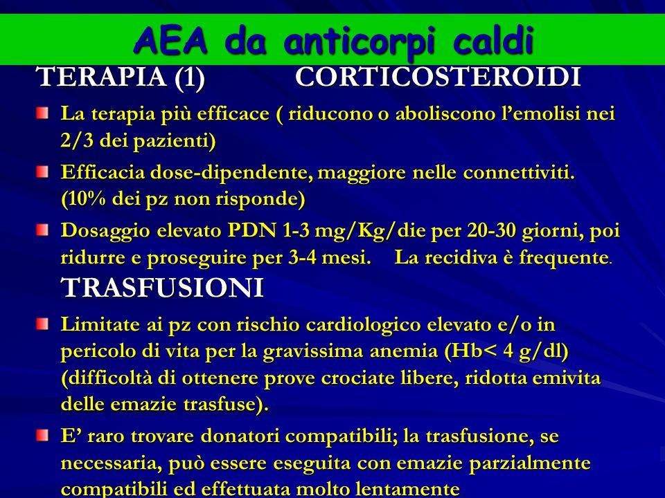 AEA da anticorpi caldi TERAPIA (1) CORTICOSTEROIDI