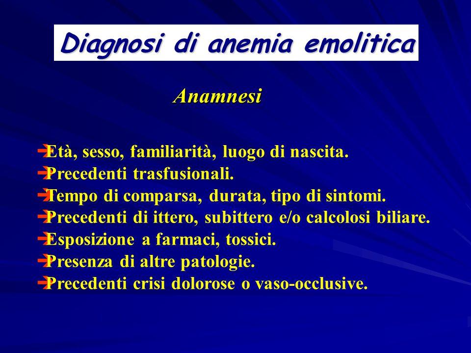 Diagnosi di anemia emolitica