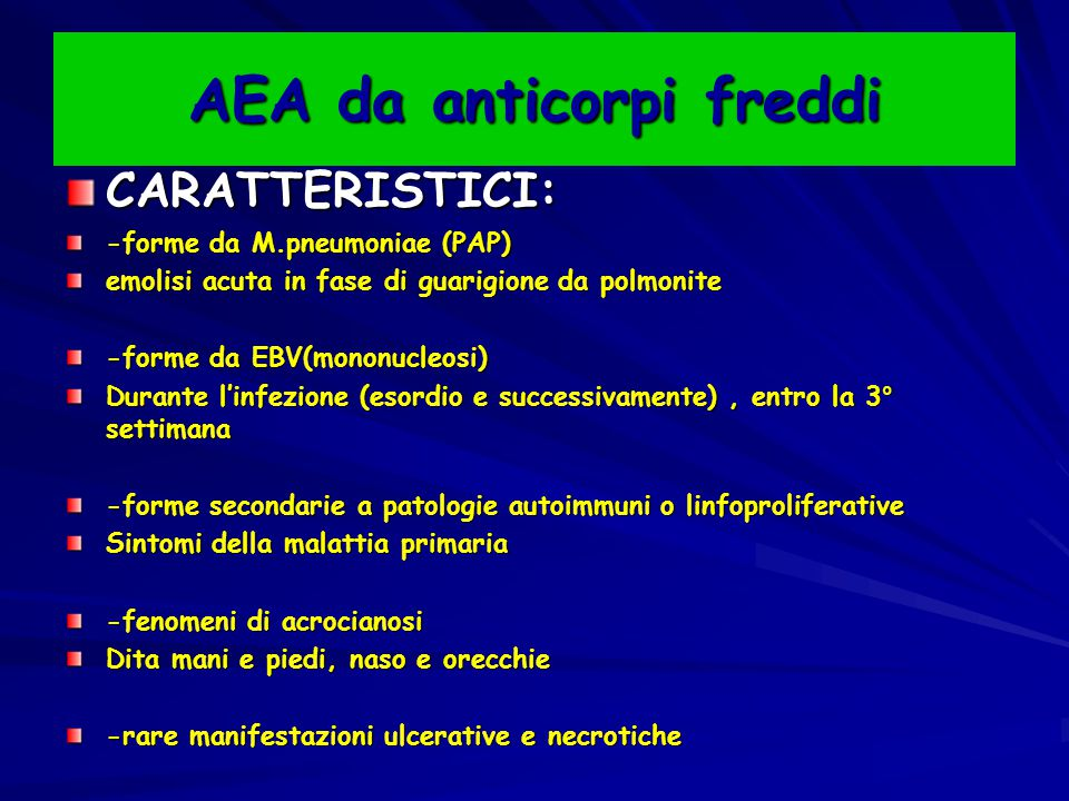 AEA da anticorpi freddi