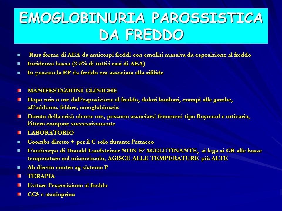 EMOGLOBINURIA PAROSSISTICA DA FREDDO