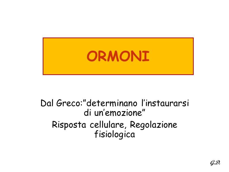 ORMONI Dal Greco: determinano l'instaurarsi di un'emozione