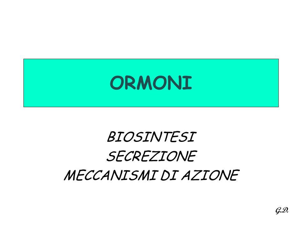 BIOSINTESI SECREZIONE MECCANISMI DI AZIONE