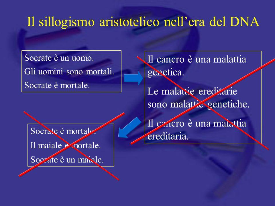Il sillogismo aristotelico nell'era del DNA
