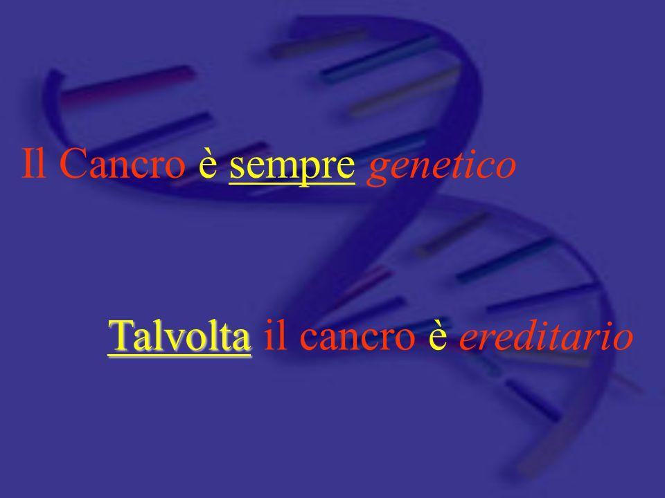 Il Cancro è sempre genetico