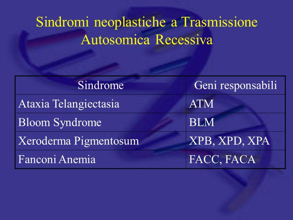 Sindromi neoplastiche a Trasmissione Autosomica Recessiva