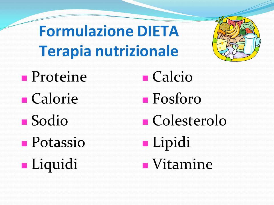 Formulazione DIETA Terapia nutrizionale