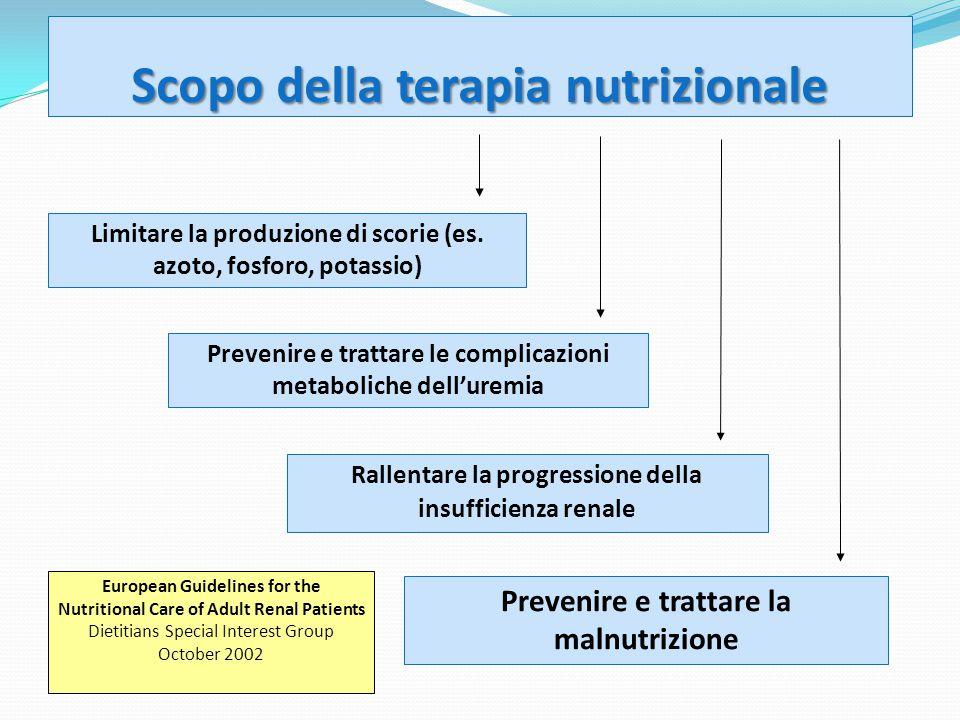 Scopo della terapia nutrizionale