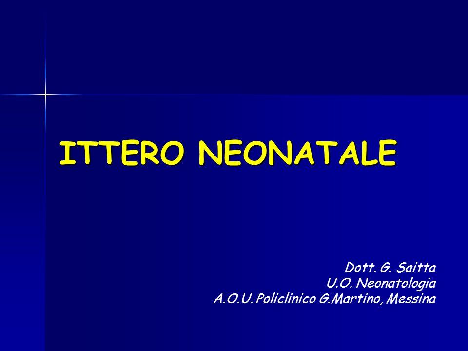 ITTERO NEONATALE Dott. G. Saitta U.O. Neonatologia