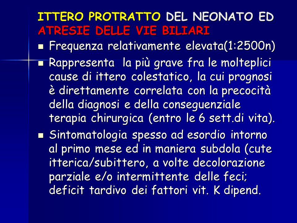 ITTERO PROTRATTO DEL NEONATO ED ATRESIE DELLE VIE BILIARI