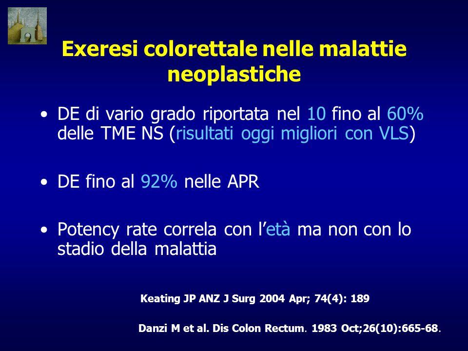 Exeresi colorettale nelle malattie neoplastiche