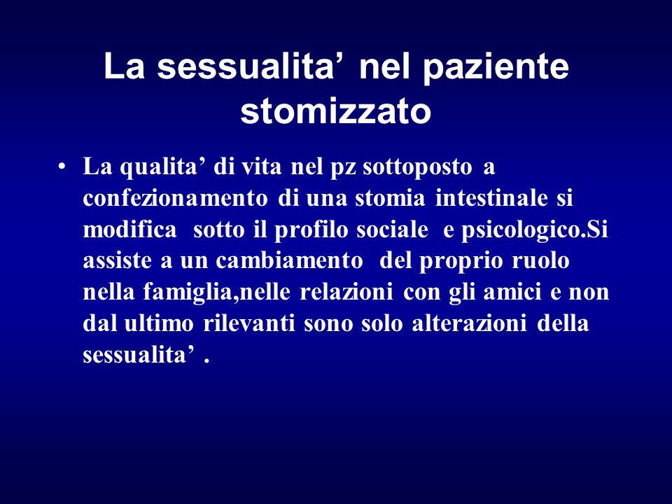 La sessualita' nel paziente stomizzato