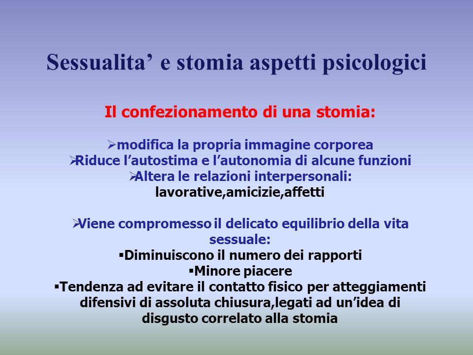 Sessualita' e stomia aspetti psicologici