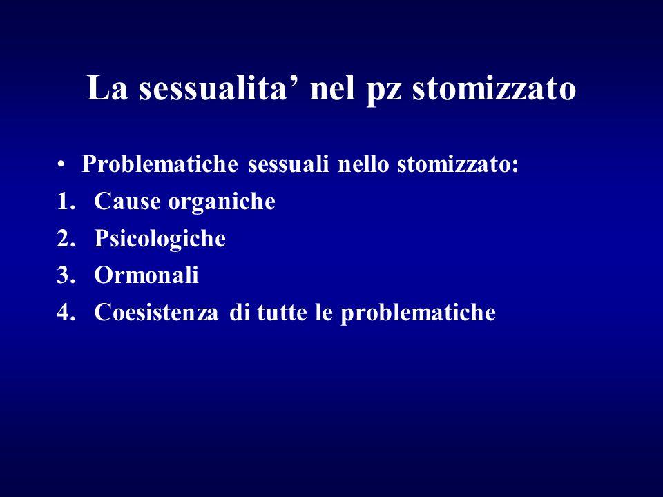 La sessualita' nel pz stomizzato