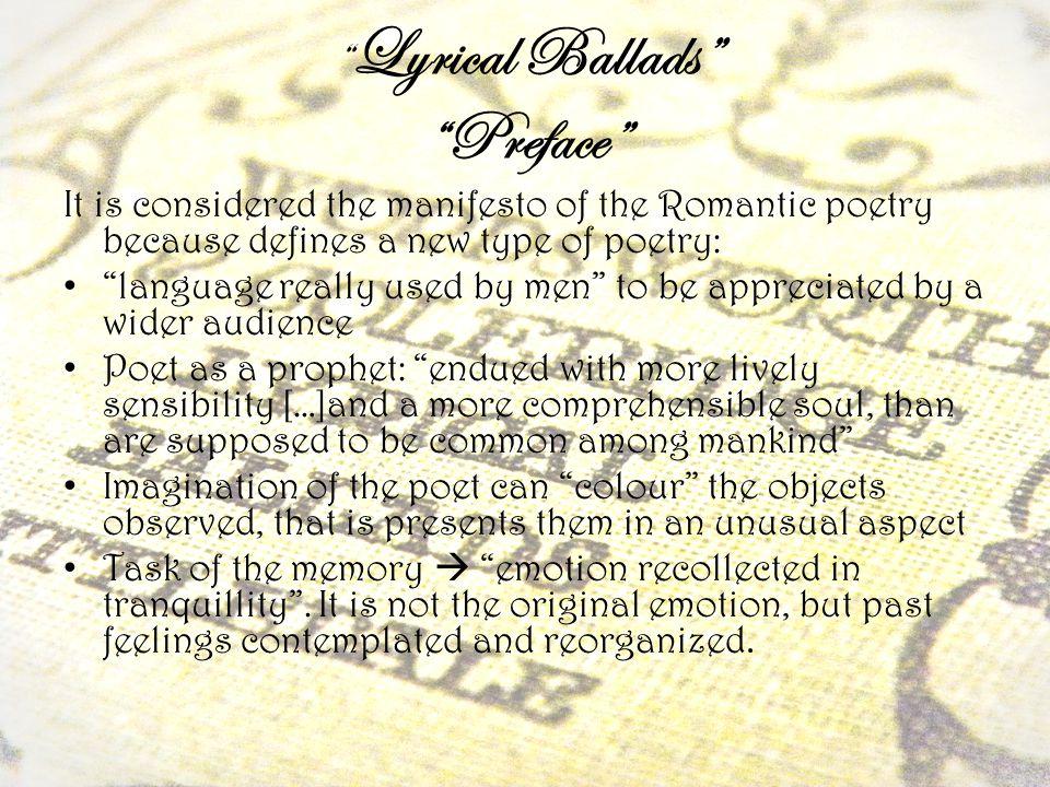 Lyrical Ballads Preface