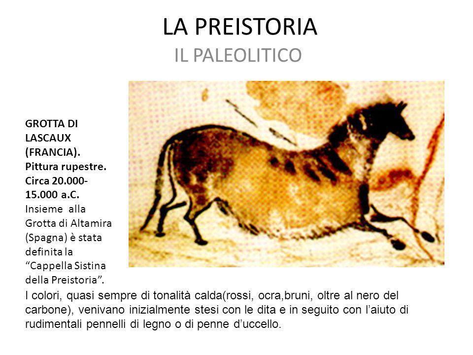 LA PREISTORIA IL PALEOLITICO GROTTA DI LASCAUX (FRANCIA).