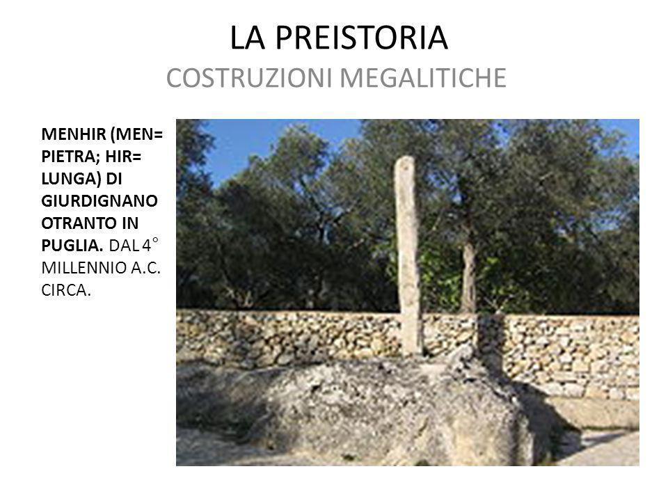 COSTRUZIONI MEGALITICHE