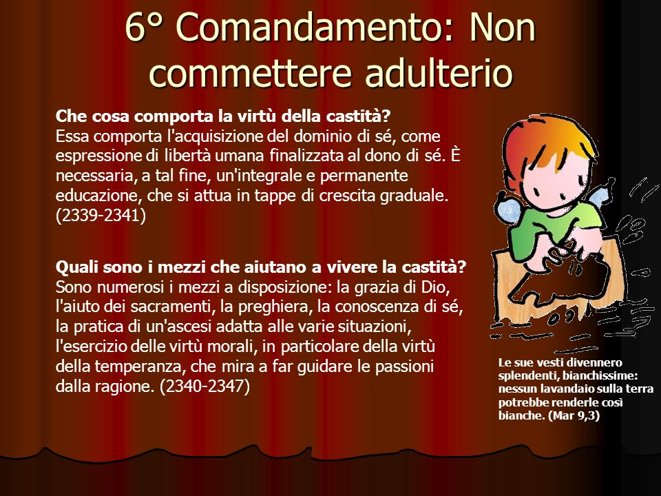 6° Comandamento: Non commettere adulterio