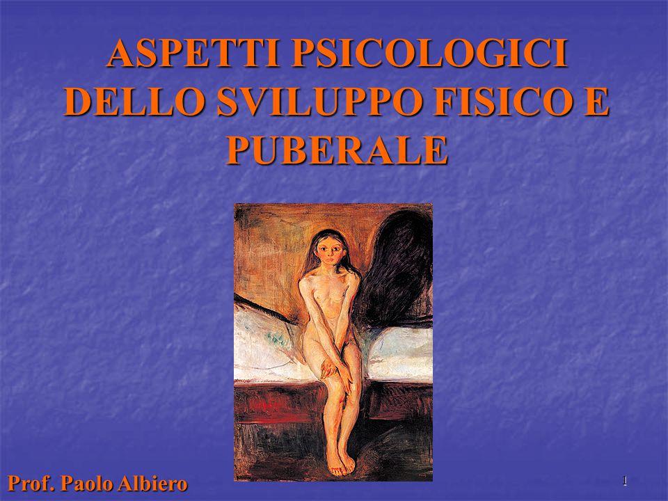 ASPETTI PSICOLOGICI DELLO SVILUPPO FISICO E PUBERALE